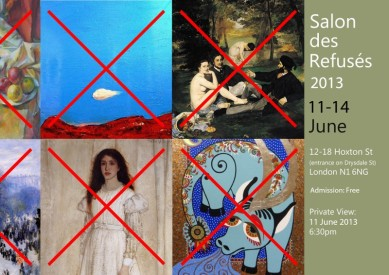 Salon des Refuses 2013 Invitation, HAPPENSTANCE Gallery