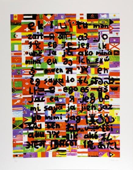 Medium: 6-color screenprint on Fabriano rough paper Dimensions: 50 x 63 cm (paper size) / 40 x 53 cm (image size)