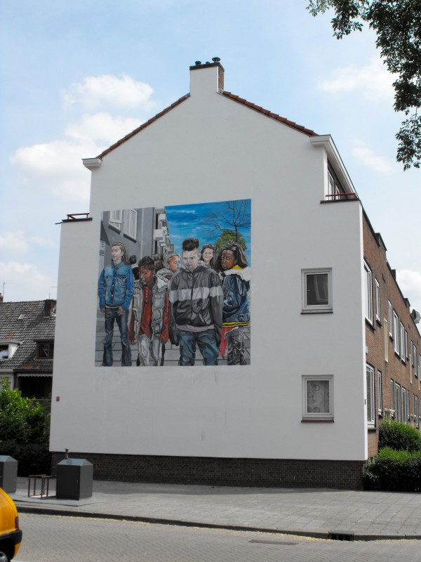 Chairlois, Rotterdam, 2010, 5 x 5 meters acrylic