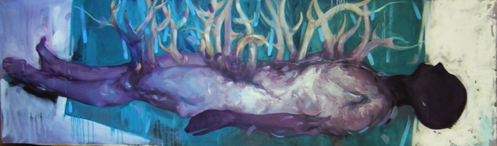 horny,oil on canvas,200x60cm,