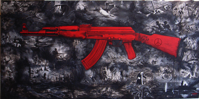 Weapon AK47  Size´+Ü200x400cm    Year´+Ü2012